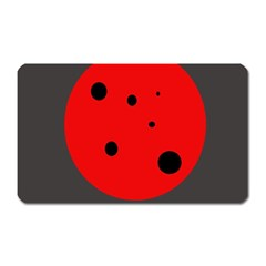 Red Circle Magnet (rectangular) by Valentinaart