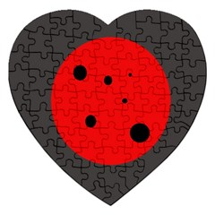 Red Circle Jigsaw Puzzle (heart) by Valentinaart