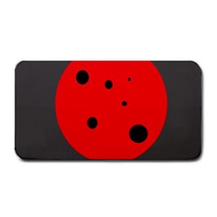 Red Circle Medium Bar Mats by Valentinaart
