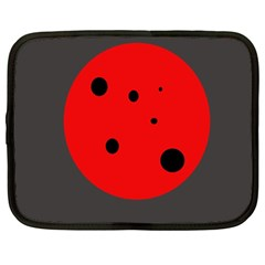 Red Circle Netbook Case (large) by Valentinaart
