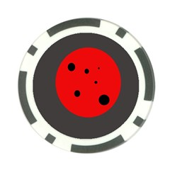 Red Circle Poker Chip Card Guards (10 Pack)  by Valentinaart