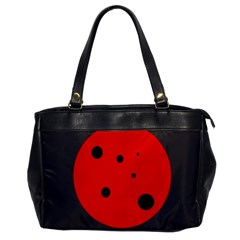 Red Circle Office Handbags by Valentinaart