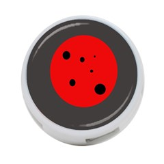 Red Circle 4 Port Usb Hub (one Side) by Valentinaart