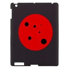 Red Circle Apple Ipad 3/4 Hardshell Case by Valentinaart