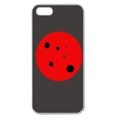 Red Circle Apple Seamless Iphone 5 Case (clear) by Valentinaart
