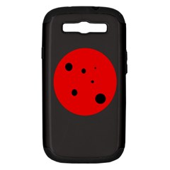 Red Circle Samsung Galaxy S Iii Hardshell Case (pc+silicone) by Valentinaart
