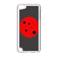 Red Circle Apple Ipod Touch 5 Case (white) by Valentinaart
