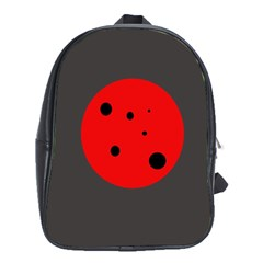 Red Circle School Bags (xl)  by Valentinaart