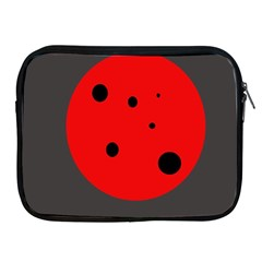 Red Circle Apple Ipad 2/3/4 Zipper Cases
