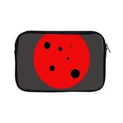 Red Circle Apple Ipad Mini Zipper Cases by Valentinaart