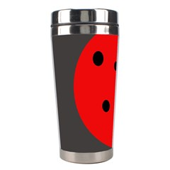 Red Circle Stainless Steel Travel Tumblers by Valentinaart