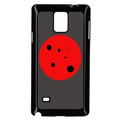Red Circle Samsung Galaxy Note 4 Case (black) by Valentinaart
