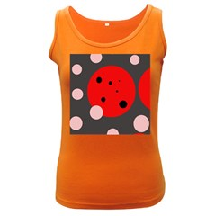 Red And Pink Dots Women s Dark Tank Top