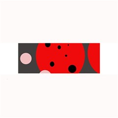 Red And Pink Dots Large Bar Mats by Valentinaart