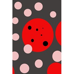 Red And Pink Dots 5 5  X 8 5  Notebooks