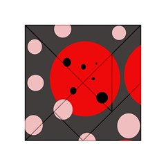 Red And Pink Dots Acrylic Tangram Puzzle (4  X 4 ) by Valentinaart
