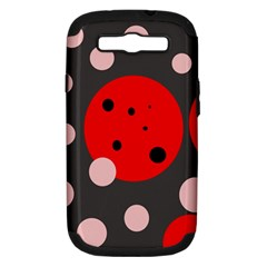Red And Pink Dots Samsung Galaxy S Iii Hardshell Case (pc+silicone) by Valentinaart