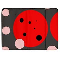 Red And Pink Dots Samsung Galaxy Tab 7  P1000 Flip Case