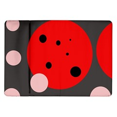Red And Pink Dots Samsung Galaxy Tab 10 1  P7500 Flip Case by Valentinaart