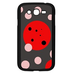 Red And Pink Dots Samsung Galaxy Grand Duos I9082 Case (black) by Valentinaart
