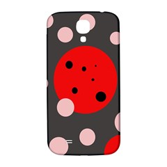 Red And Pink Dots Samsung Galaxy S4 I9500/i9505  Hardshell Back Case by Valentinaart