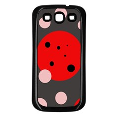 Red And Pink Dots Samsung Galaxy S3 Back Case (black) by Valentinaart