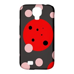 Red And Pink Dots Samsung Galaxy S4 Classic Hardshell Case (pc+silicone) by Valentinaart