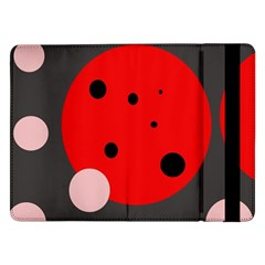 Red And Pink Dots Samsung Galaxy Tab Pro 12 2  Flip Case by Valentinaart