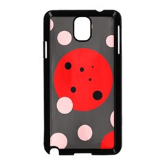 Red And Pink Dots Samsung Galaxy Note 3 Neo Hardshell Case (black) by Valentinaart