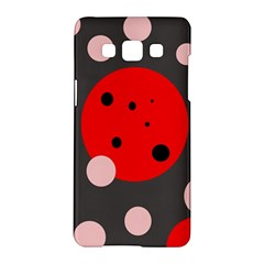 Red And Pink Dots Samsung Galaxy A5 Hardshell Case  by Valentinaart