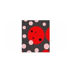 Red And Pink Dots Satin Wrap by Valentinaart