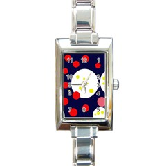 Abstract Moon Rectangle Italian Charm Watch