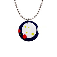 Abstract Moon Button Necklaces by Valentinaart