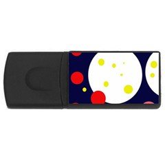 Abstract Moon Usb Flash Drive Rectangular (4 Gb)