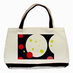 Abstract Moon Basic Tote Bag (two Sides) by Valentinaart