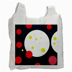 Abstract Moon Recycle Bag (two Side)  by Valentinaart