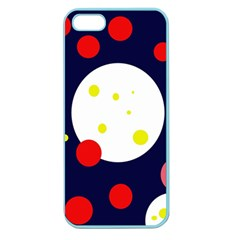 Abstract Moon Apple Seamless Iphone 5 Case (color) by Valentinaart