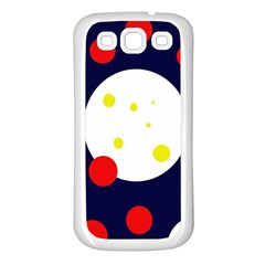 Abstract Moon Samsung Galaxy S3 Back Case (white) by Valentinaart