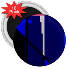 Blue Abstraction 3  Magnets (10 Pack)  by Valentinaart