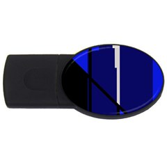 Blue Abstraction Usb Flash Drive Oval (2 Gb)  by Valentinaart