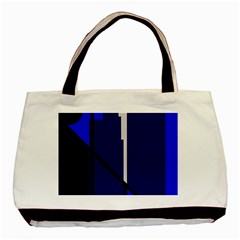 Blue Abstraction Basic Tote Bag by Valentinaart