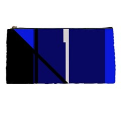 Blue Abstraction Pencil Cases by Valentinaart