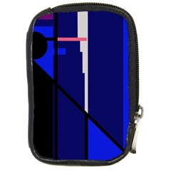 Blue Abstraction Compact Camera Cases by Valentinaart