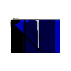 Blue Abstraction Cosmetic Bag (medium)  by Valentinaart