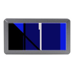 Blue Abstraction Memory Card Reader (mini) by Valentinaart
