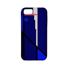 Blue Abstraction Apple Iphone 5 Classic Hardshell Case (pc+silicone) by Valentinaart