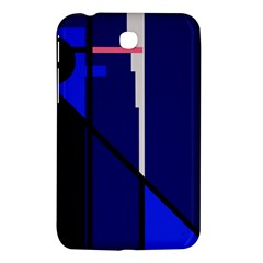 Blue Abstraction Samsung Galaxy Tab 3 (7 ) P3200 Hardshell Case  by Valentinaart
