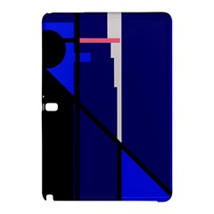 Blue Abstraction Samsung Galaxy Tab Pro 12 2 Hardshell Case by Valentinaart