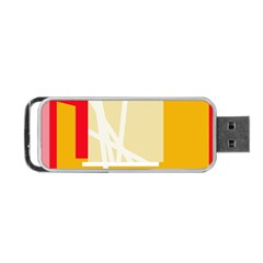 Basketball Portable Usb Flash (two Sides) by Valentinaart