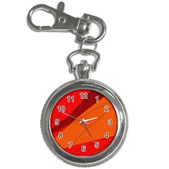 Red And Orange Decorative Abstraction Key Chain Watches by Valentinaart